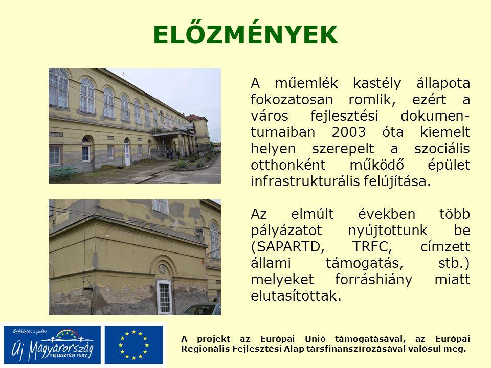 A projekt az Európai Unió támogatásával, az Európai Regionális Fejlesztési Alap társfinanszírozásával valósul meg. ELŐZMÉNYEK A műemlék kastély állapo