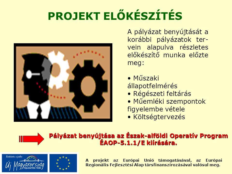 A projekt az Európai Unió támogatásával, az Európai Regionális Fejlesztési Alap társfinanszírozásával valósul meg. PROJEKT ELŐKÉSZÍTÉS A pályázat beny