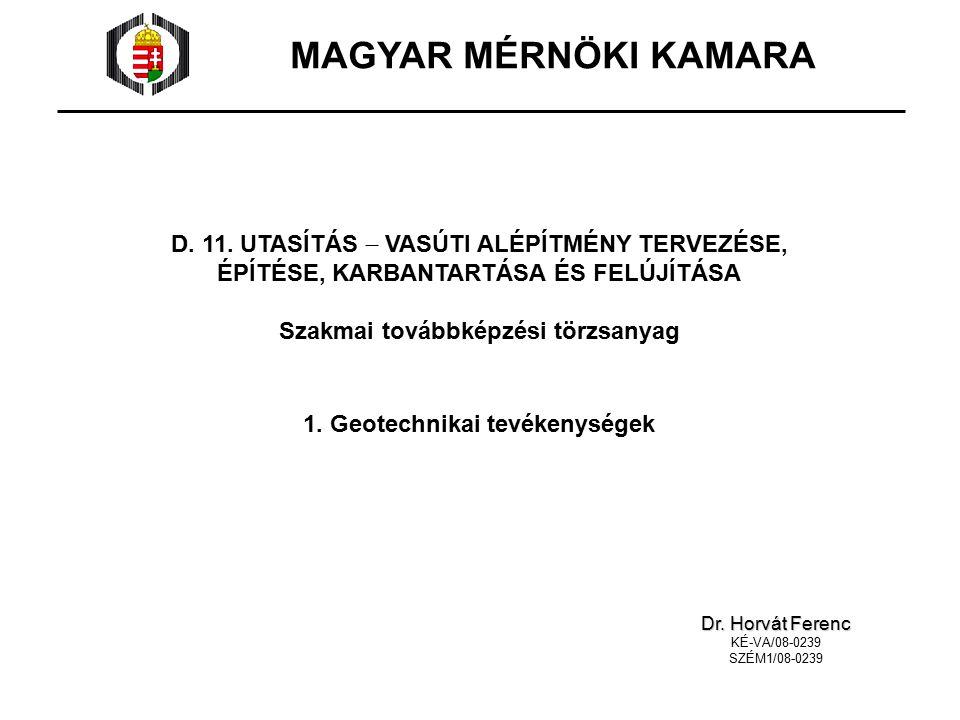 MAGYAR MÉRNÖKI KAMARA D. 11.