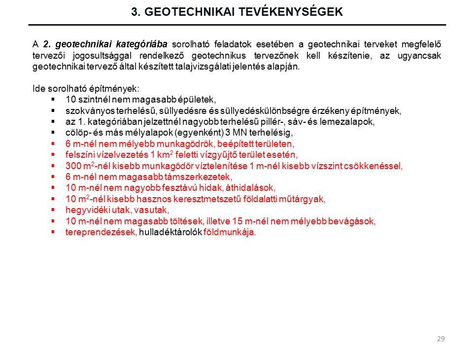 3. GEOTECHNIKAI TEVÉKENYSÉGEK A 2.