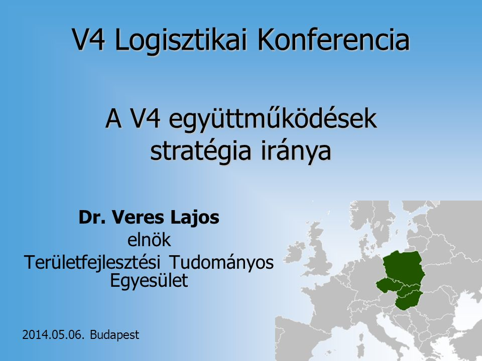 V4 Logisztikai Konferencia Dr.