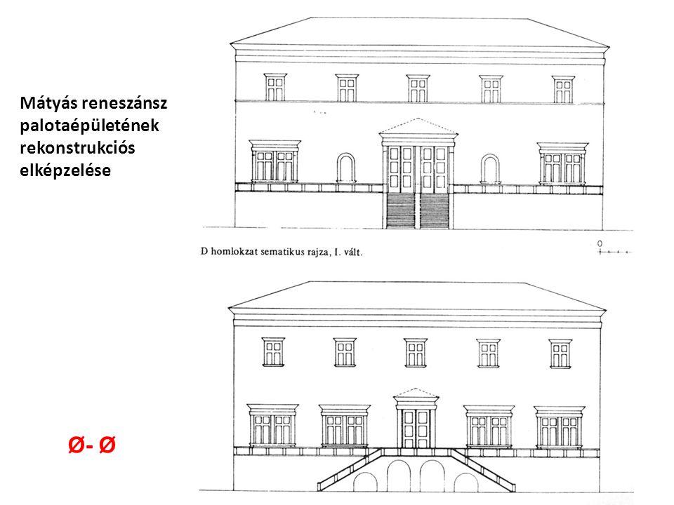 Mátyás reneszánsz palotaépületének rekonstrukciós elképzelése Ø- Ø