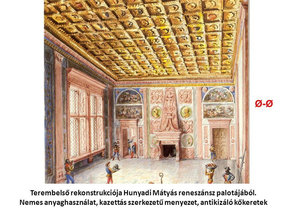 Terembelső rekonstrukciója Hunyadi Mátyás reneszánsz palotájából.