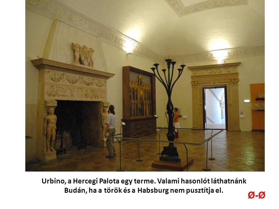Urbino, a Hercegi Palota egy terme.