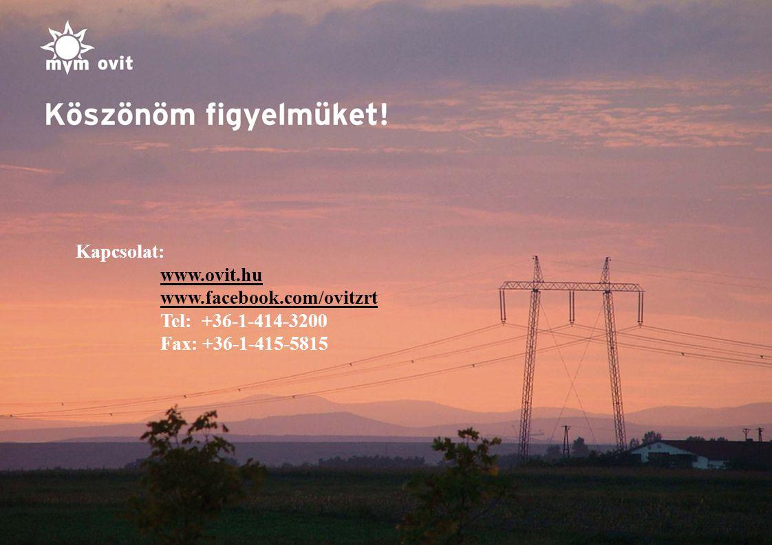 9 Kapcsolat: www.ovit.hu www.facebook.com/ovitzrt Tel: +36-1-414-3200 Fax: +36-1-415-5815