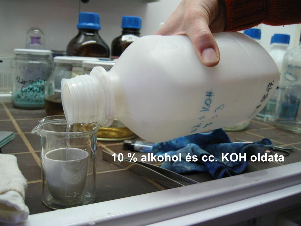 10 % alkohol és cc. KOH oldata