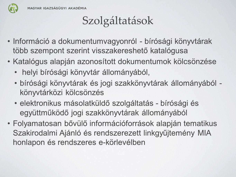 A Szakirodalmi Ajánló elérése a MIA honlapján: http://mia.birosag.hu/20150304/szakirodalmi-ajanlo
