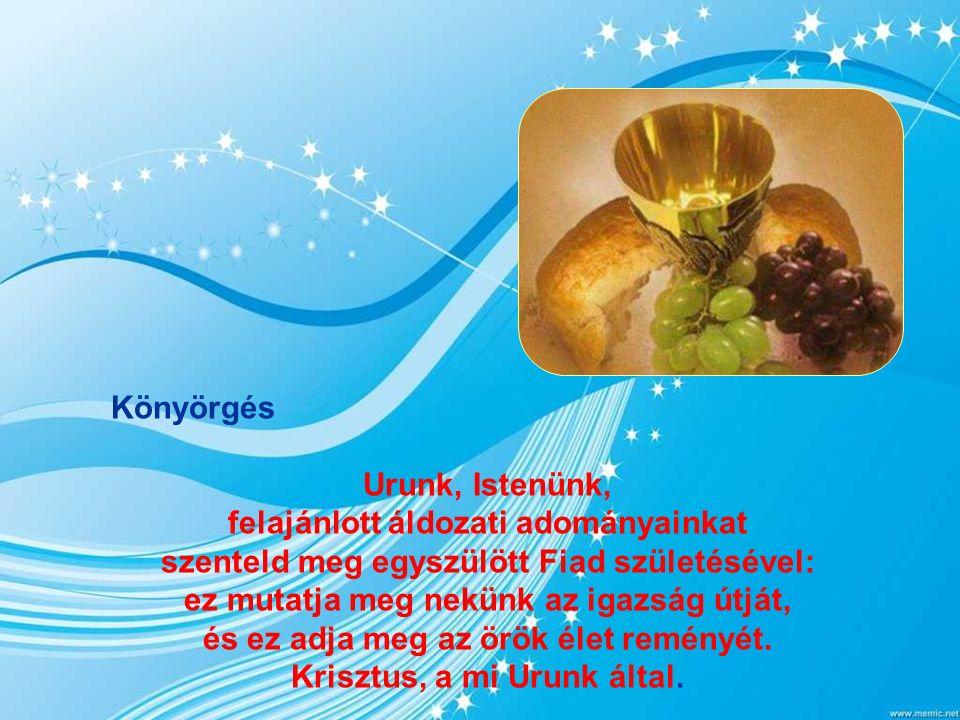Evangélium János 1,1-18 Az Ige testté lett, és közöttünk lakott. Kezdetben volt az Ige. Az Ige Istennél volt, és Isten volt az Ige. Ô volt kezdetben I