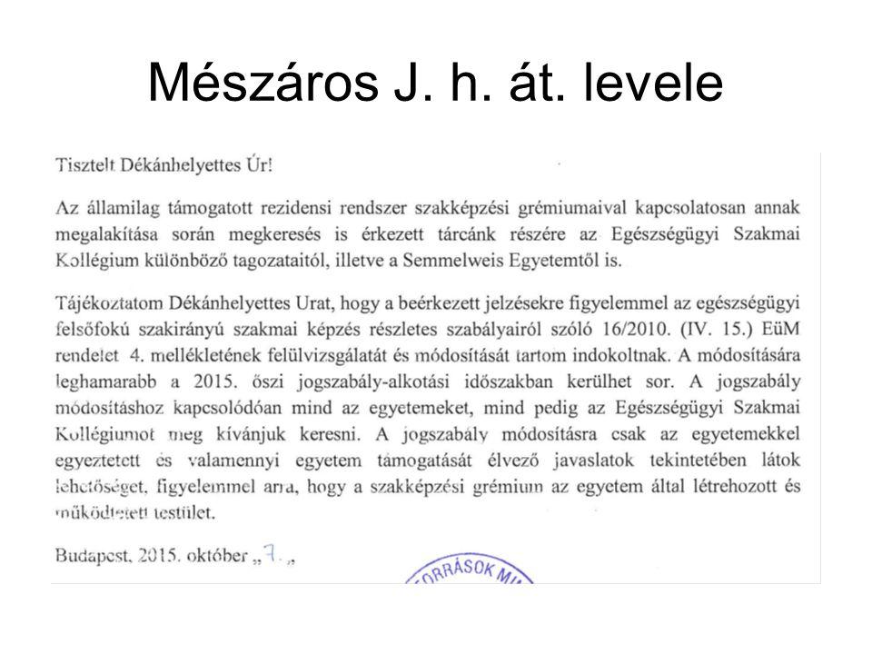 Mészáros J. h. át. levele