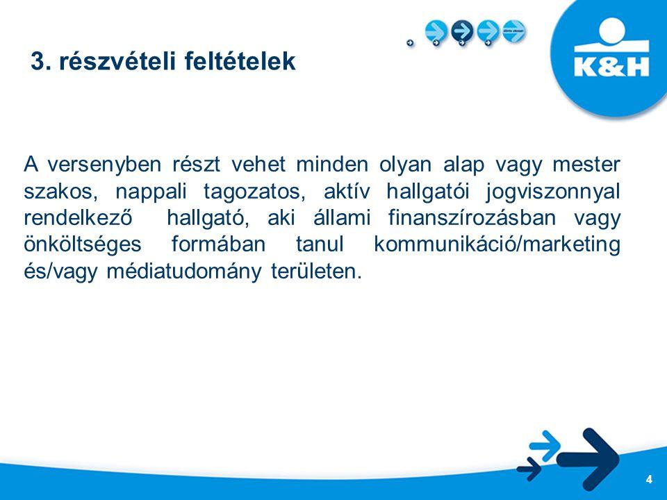 3. részvételi feltételek A versenyben részt vehet minden olyan alap vagy mester szakos, nappali tagozatos, aktív hallgatói jogviszonnyal rendelkező ha