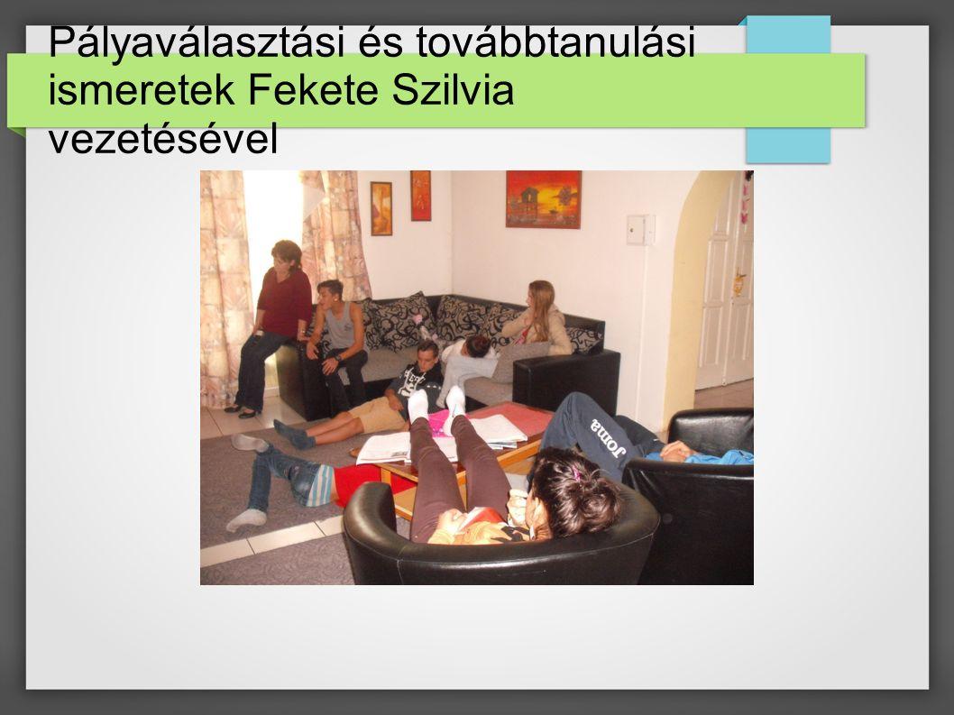 Pályaválasztási és továbbtanulási ismeretek Fekete Szilvia vezetésével