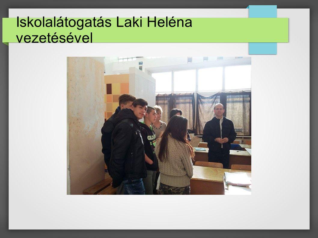 Iskolalátogatás Laki Heléna vezetésével