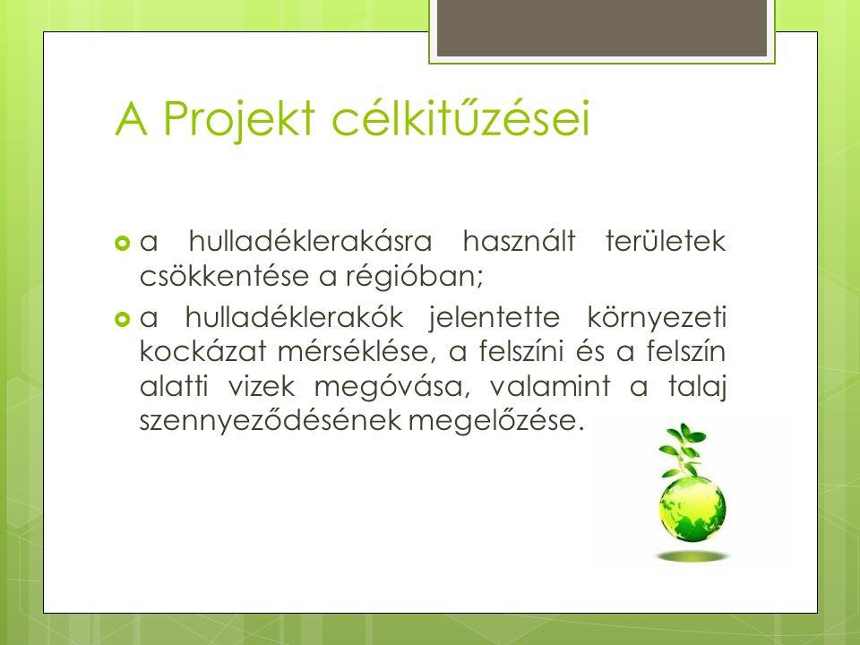 A Projekt célkitűzései  a hulladéklerakásra használt területek csökkentése a régióban;  a hulladéklerakók jelentette környezeti kockázat mérséklése, a felszíni és a felszín alatti vizek megóvása, valamint a talaj szennyeződésének megelőzése.