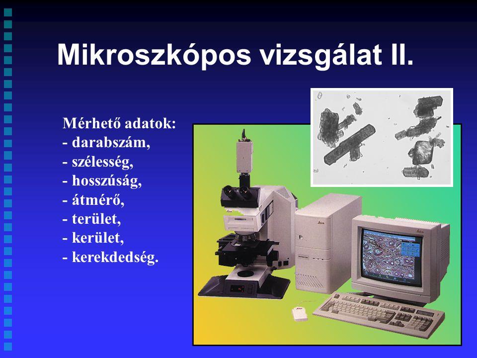 Mikroszkópos vizsgálat II.