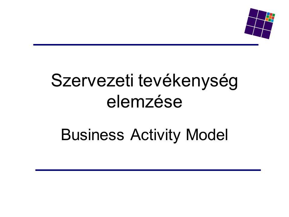 Szervezeti tevékenység elemzése Business Activity Model