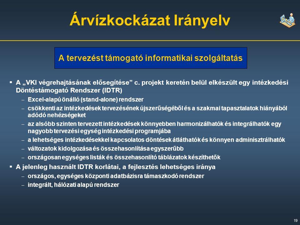 """19  A """"VKI végrehajtásának elősegítése c."""