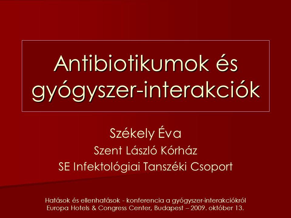 Hatások és ellenhatások - konferencia a gyógyszer-interakciókról Europa Hotels & Congress Center, Budapest – 2009.