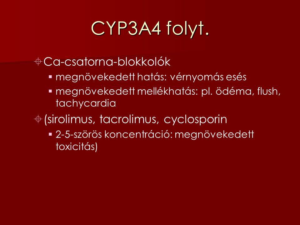 CYP3A4 folyt.