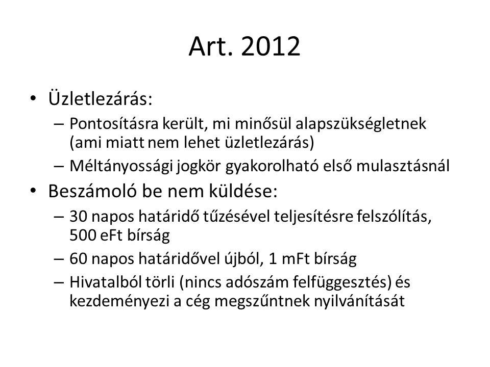 Art. 2012 Üzletlezárás: – Pontosításra került, mi minősül alapszükségletnek (ami miatt nem lehet üzletlezárás) – Méltányossági jogkör gyakorolható els