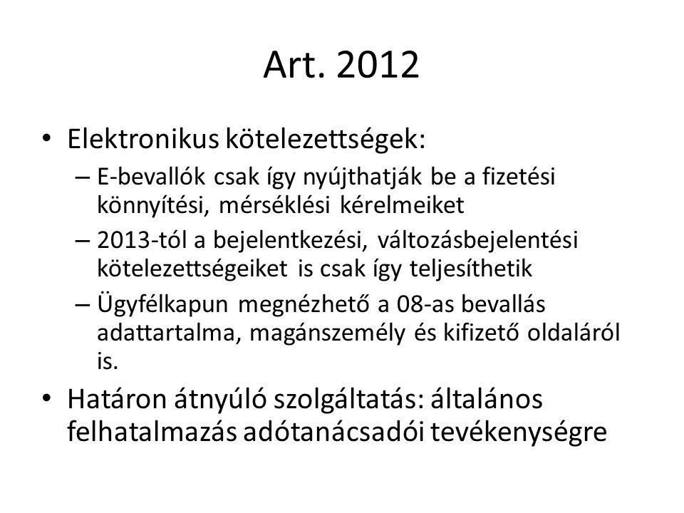 Art. 2012 Elektronikus kötelezettségek: – E-bevallók csak így nyújthatják be a fizetési könnyítési, mérséklési kérelmeiket – 2013-tól a bejelentkezési
