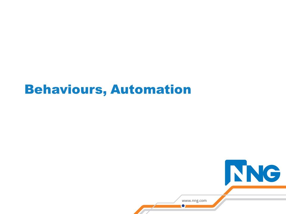 Behaviours, Automation