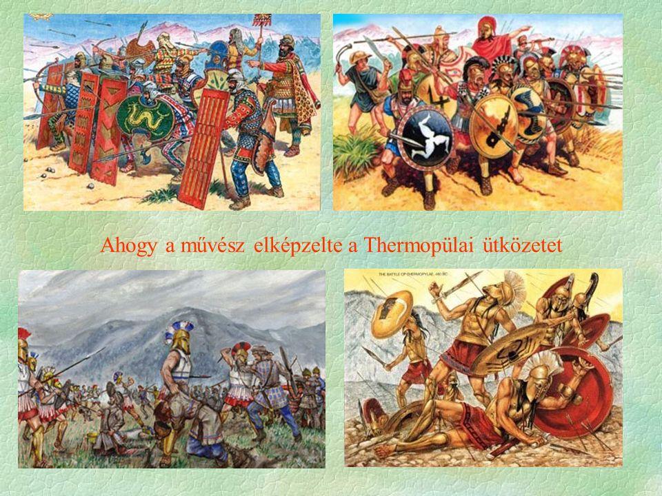 Ahogy a művész elképzelte a Thermopülai ütközetet