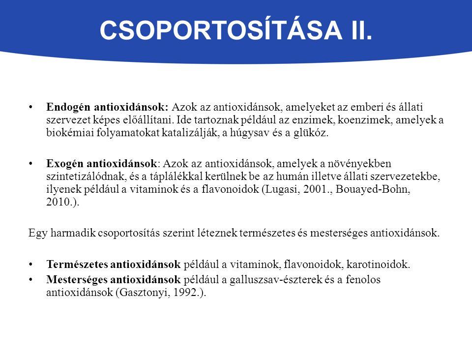 CSOPORTOSÍTÁSA II.