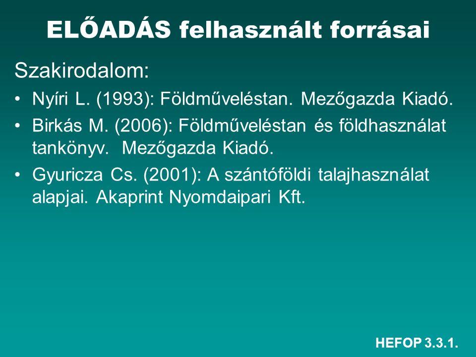 HEFOP 3.3.1. ELŐADÁS felhasznált forrásai Szakirodalom: Nyíri L.