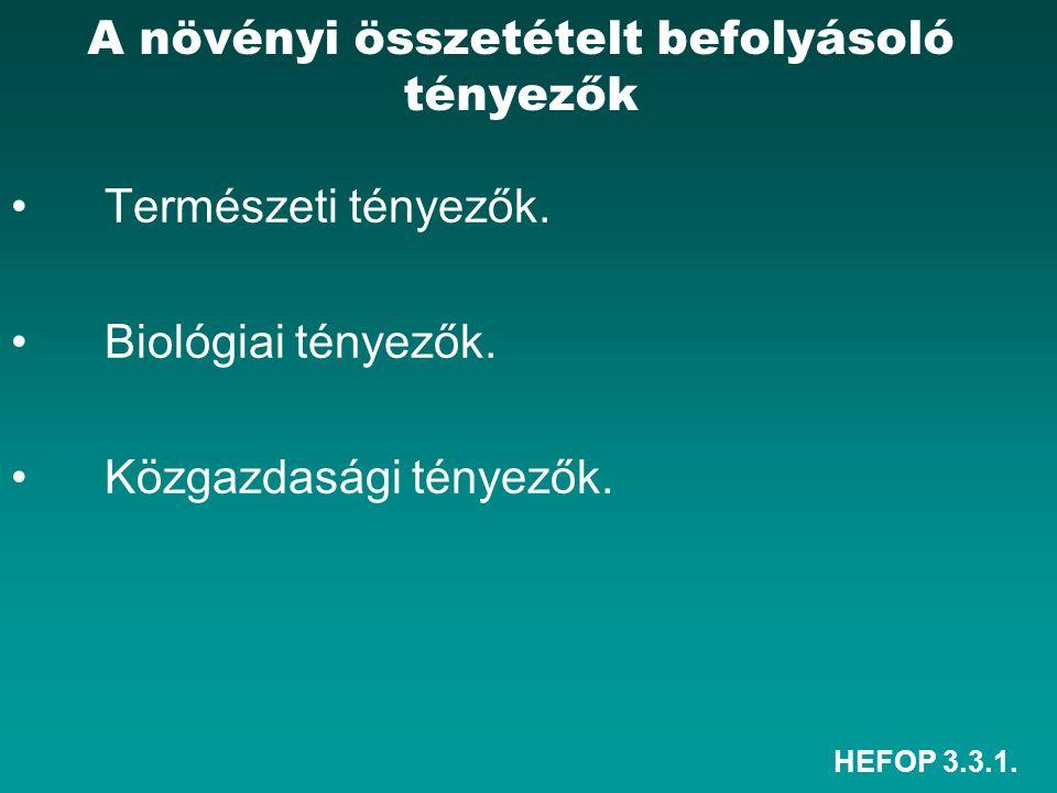HEFOP 3.3.1. Természeti tényezők. Biológiai tényezők.