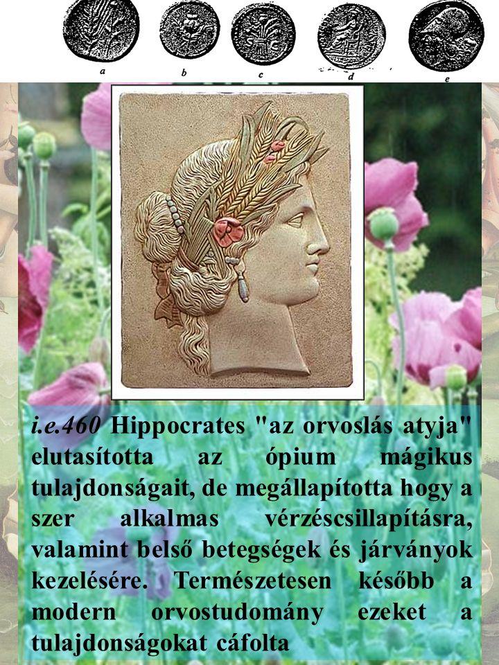 A mákot és az ópiumot egy sor görög istennel hozták kapcsolatban, így Démétér, a termékenységet adó földistennő szent növénye volt.