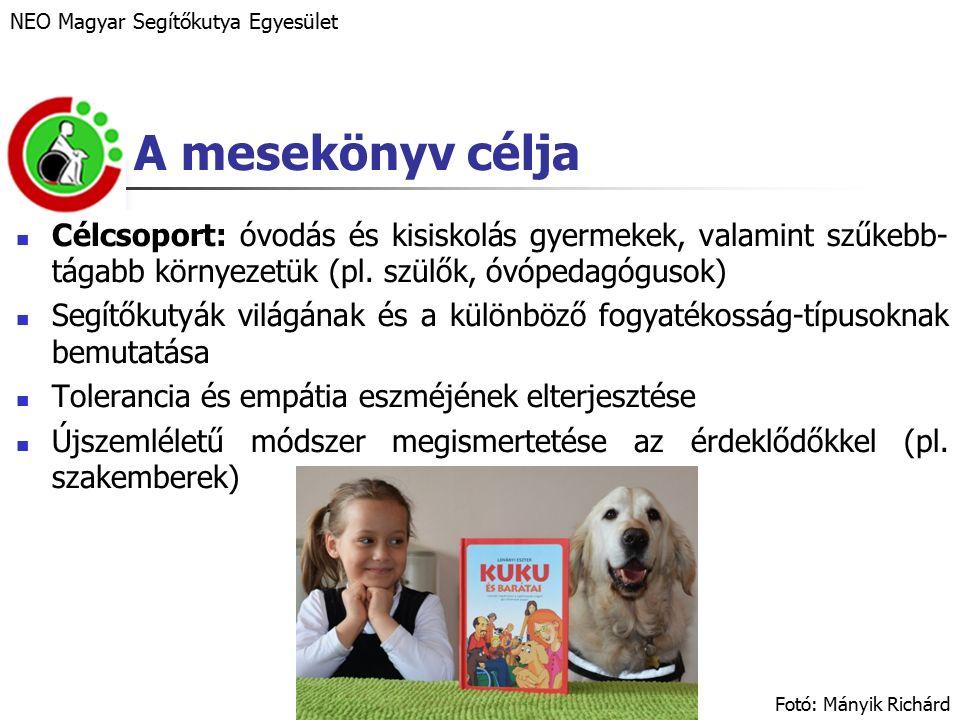 A mesekönyv célja Célcsoport: óvodás és kisiskolás gyermekek, valamint szűkebb- tágabb környezetük (pl.
