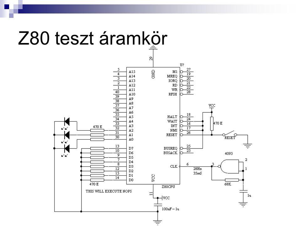 Z80 teszt áramkör