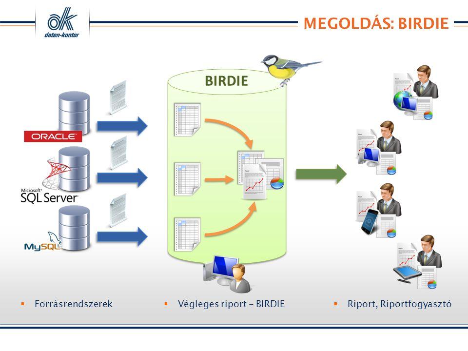 MEGOLDÁS: BIRDIE BIRDIE  Forrásrendszerek  Riport, Riportfogyasztó  Végleges riport - BIRDIE