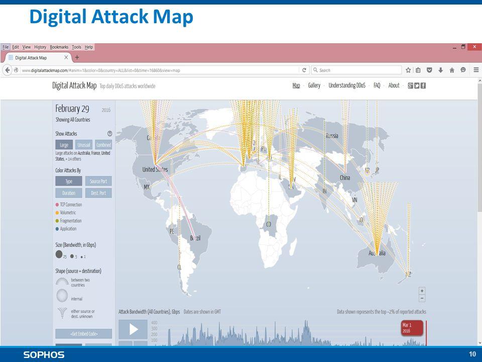 10 Digital Attack Map