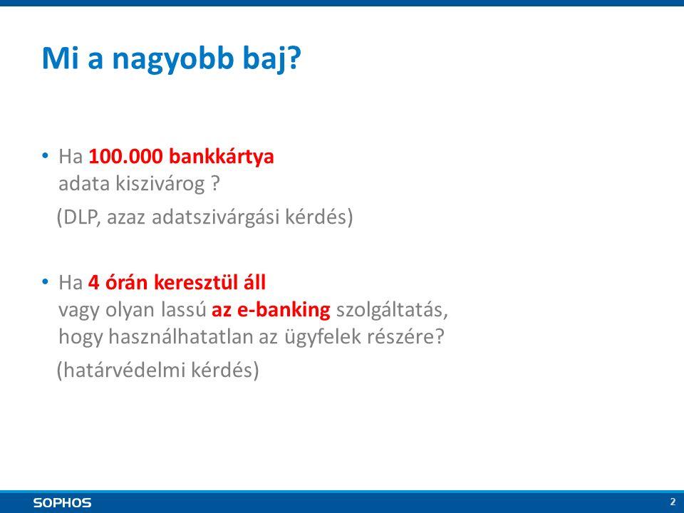 2 Mi a nagyobb baj. Ha 100.000 bankkártya adata kiszivárog .
