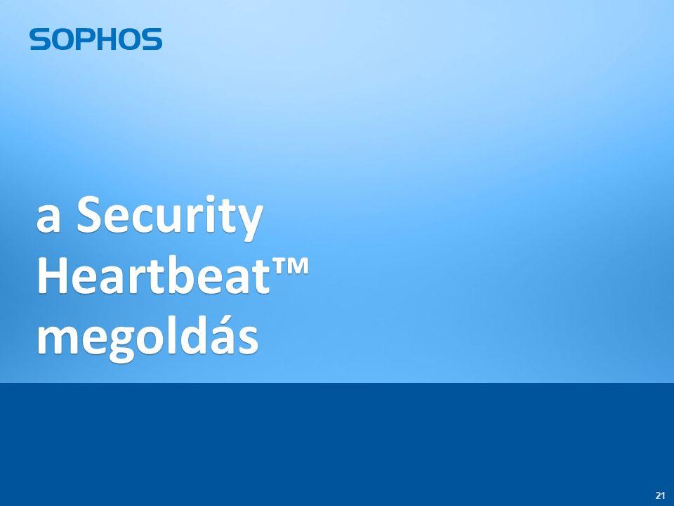 21 a Security Heartbeat™ megoldás