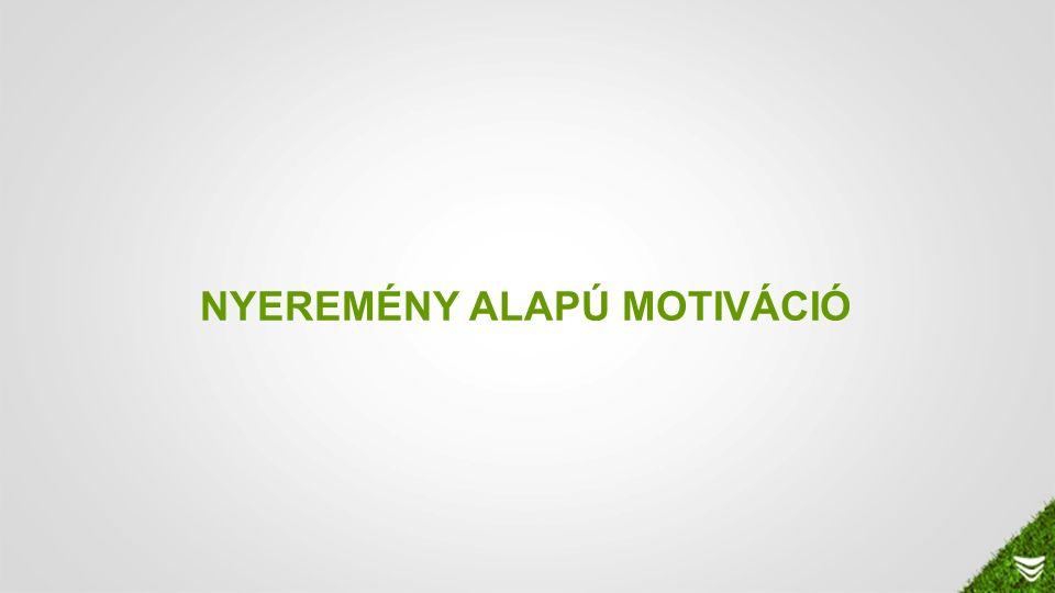 NYEREMÉNY ALAPÚ MOTIVÁCIÓ