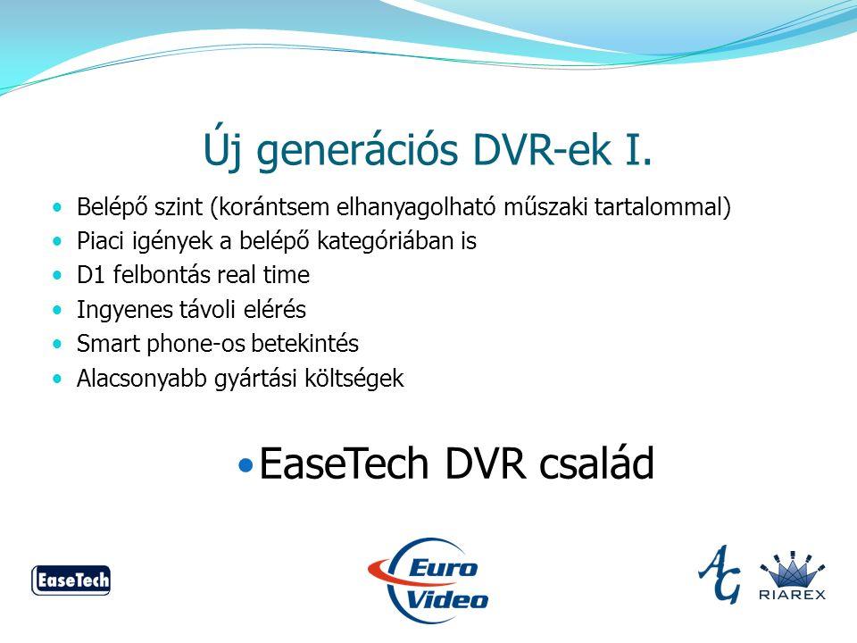 Új generációs DVR-ek I.