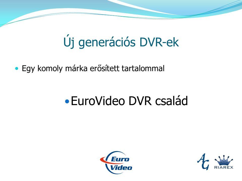 Új generációs DVR-ek Egy komoly márka erősített tartalommal EuroVideo DVR család