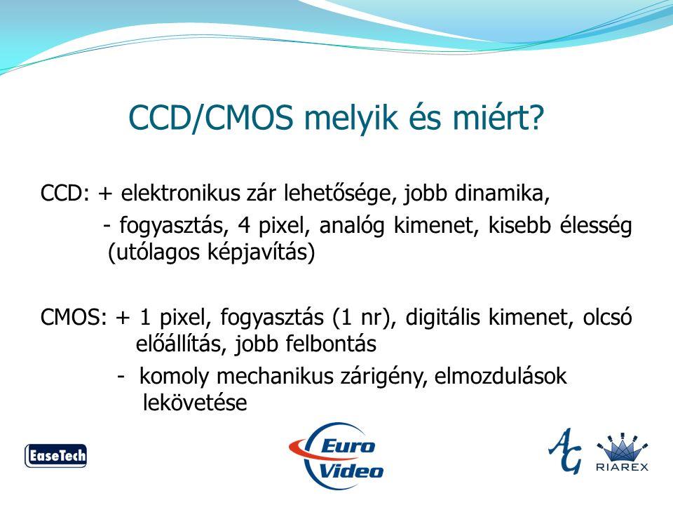 CCD/CMOS melyik és miért.