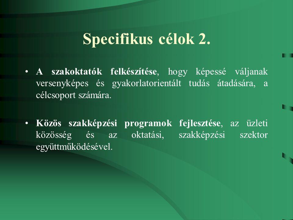 Specifikus célok 2.