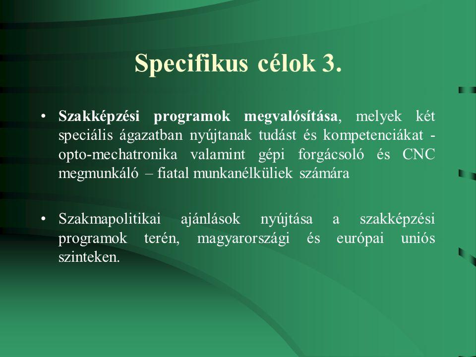 Specifikus célok 3.