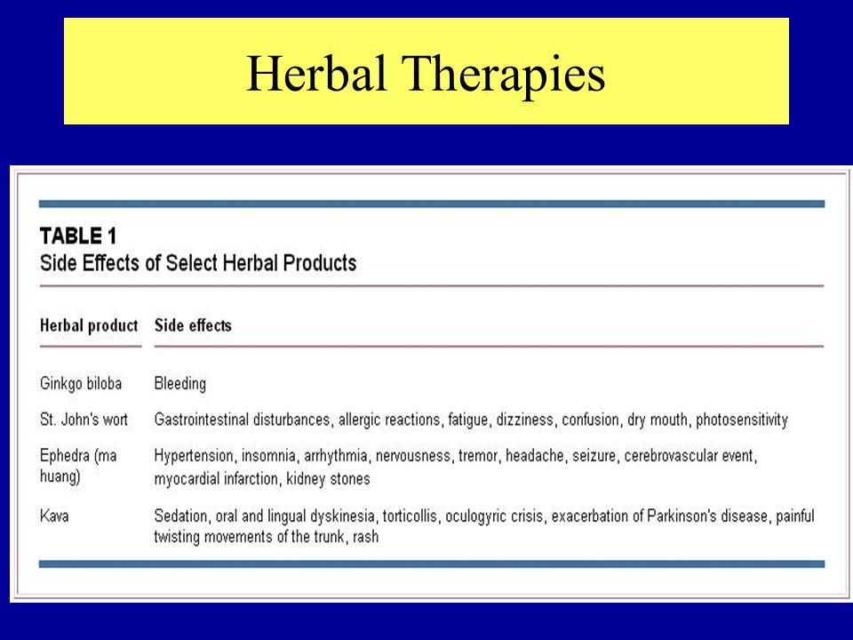 Herbal Therapies