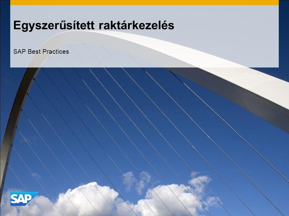 Egyszerűsített raktárkezelés SAP Best Practices