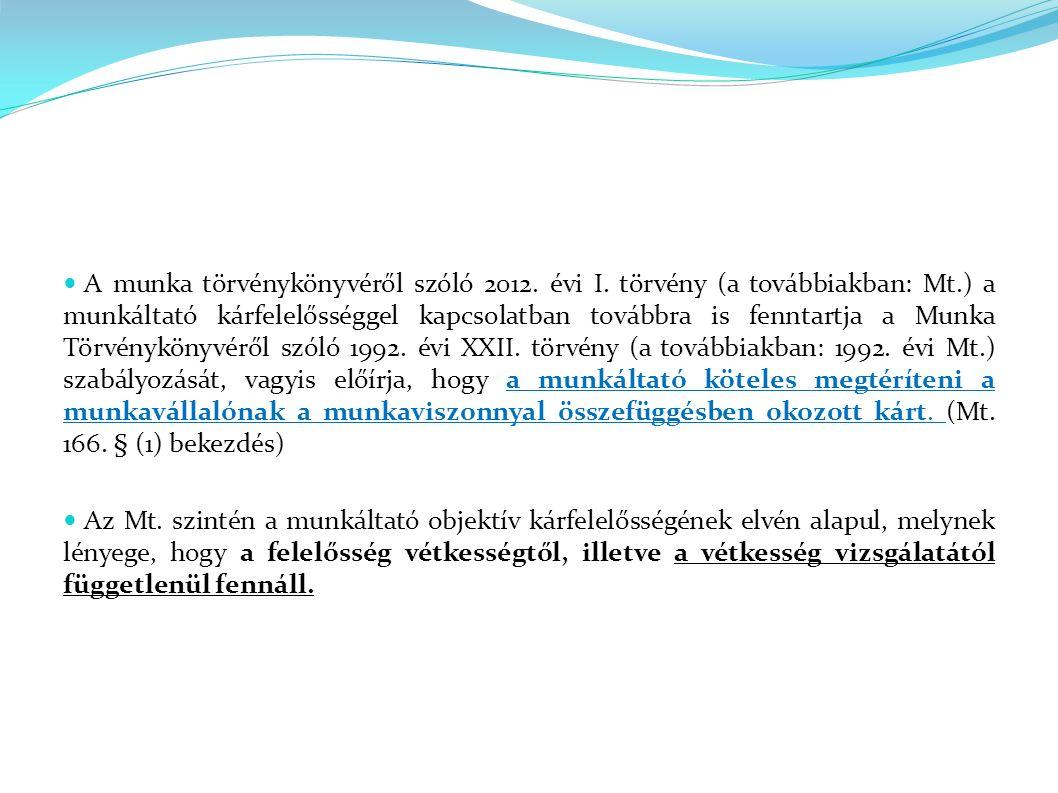 A munka törvénykönyvéről szóló 2012. évi I.