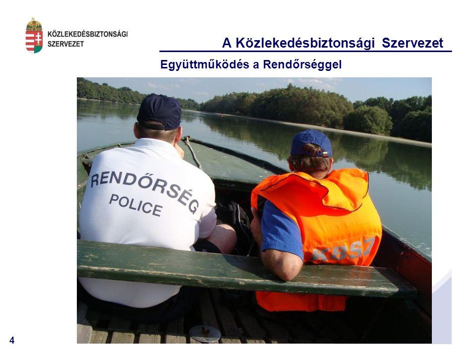 4 A Közlekedésbiztonsági Szervezet Együttműködés a Rendőrséggel