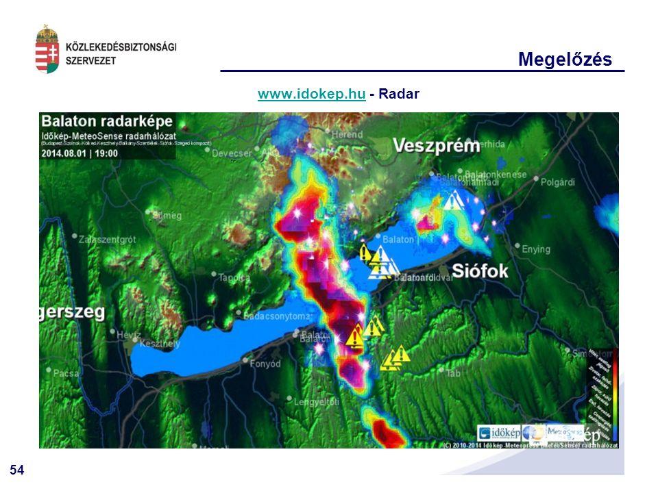 54 Megelőzés www.idokep.huwww.idokep.hu - Radar