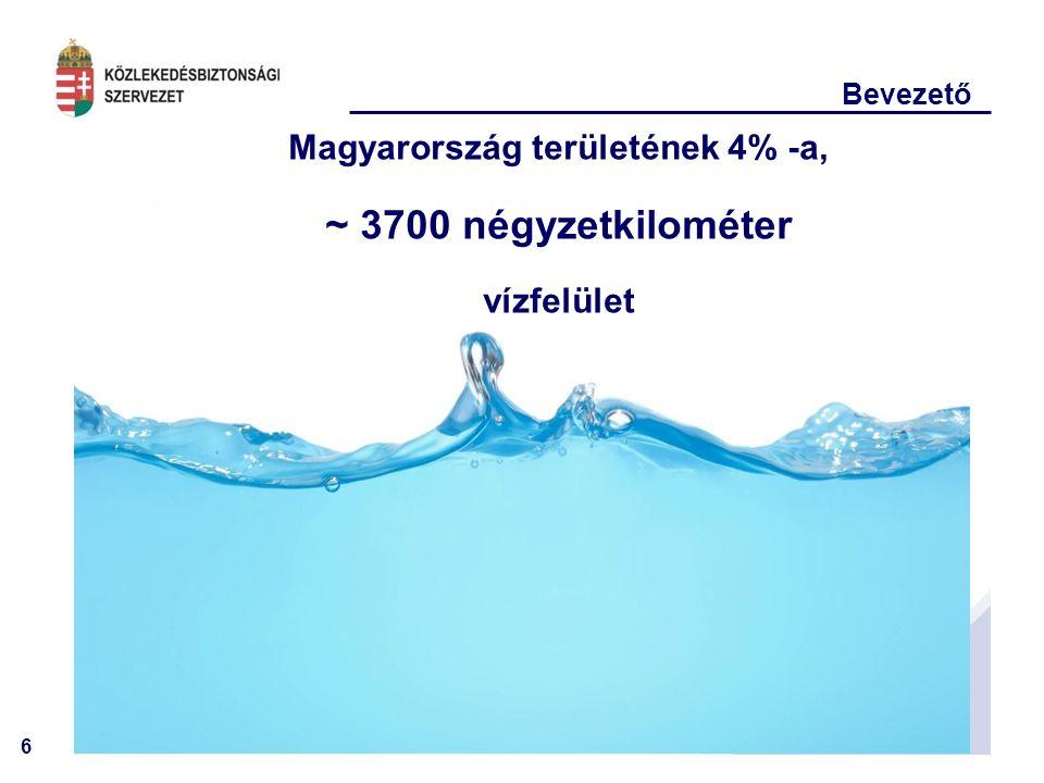 6 Bevezető Magyarország területének 4% -a, ~ 3700 négyzetkilométer vízfelület