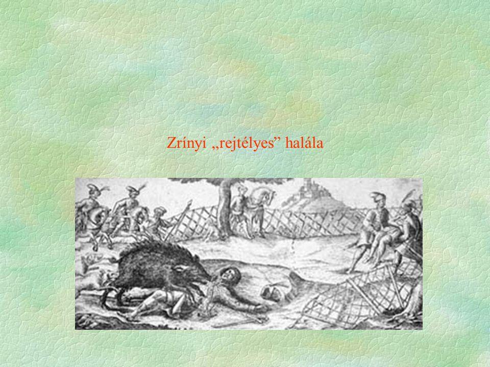 """Zrínyi """"rejtélyes halála"""