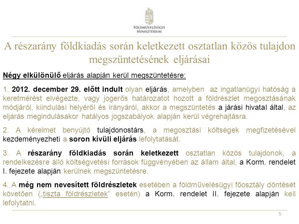Az I.ütem megindulása 16 FeladatI. ütemII. ütem Járási Hivatal (Földhivatali Osztálya) NKP NKft.